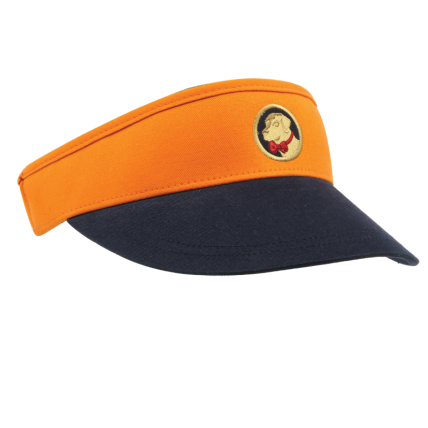 Navy and Orange Visor